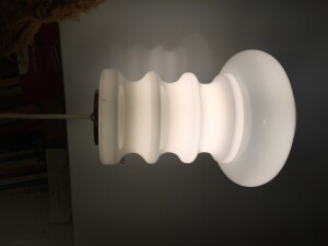 "Exquisite Vintage 1970's Holmegaard glass Pendant light - newly re-wired and ready to go - 10""H x 7.5"" at it's widest -(SOLD)"