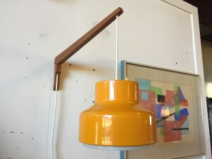 """Fabulous Mid-century Modern all light - adjustable side to side - good vintage condition with a few minor marks )( scratches to the shade ) - 21.5"""" from the wall - shade measures 10"""" diameter x 8""""H - (SOLD)"""