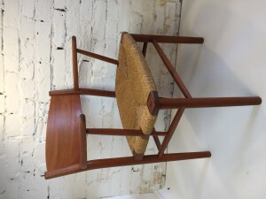 Classic Danish Modern teak armchair by Borge Mogensen - Made in Denmark - design year 1958 - this gorgeous chair can be used at the head of a dining table :) or as a desk chair or perhaps you need a stylish entrance chair - this beauty has a newly re-finished frame , the paper cord seat is in excellent vintage condition (SOLD)
