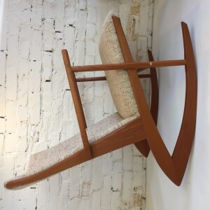 1950's Danish Modern Solid Teak Model 97 Rocking Chair by Søren Georg Jensen for Tønder Møbelværk - Denmark - incredibly stylish and comfortable - newly refinished teak frame, all joints are tight - upholstery is original and in excellent condition - (SOLD)