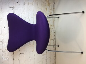 Exceptional Vintage Series 7 Chair by Arne Jacobsen for Fritz Hansen - fully upholstered in a absolutely gorgeous purple wool fabric by Kvadrat - makes a perfect desk chair or entry chair - lets face it .. this chair would look amazing anywhere you put it in your home - (SOLD)