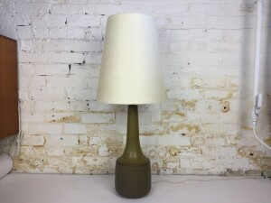 Absolutely Gorgeous Mid-century Modern ceramic lamp by husband and wife duo Lotte & Gunnar Bostlund - comes with it's original fiberglass shade -(SOLD)