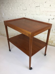 High quality teak bar cart /serving cart manufactured by Mogens Kold - Made in Denmark circa 1960 $600 - ON SALE NOW - $500