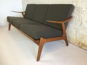 "Incredible Mid-century Scandinavian Modern 3 seater sofa - fantastic design - super unique - a piece all your friends will ask with envy .. where did you get that :) - -67""L x 29""D x 17""SH x 28""BH - $2000 (SOLD)"