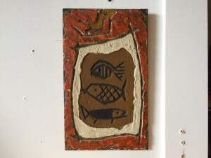 Herbert Siebner, a member of the Limners, a prominent group of Victoria-based artists, was born in 1925 to a cultured family in the city of Stettin, Germany- sgraffito wall art - $700rmany
