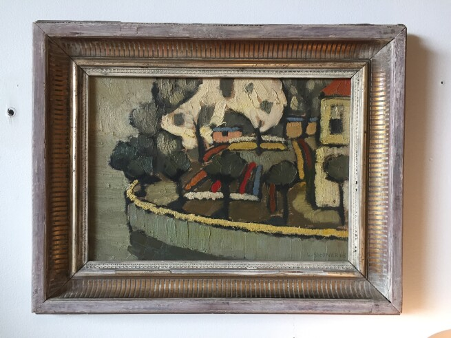 Herbert Siebner, a member of the Limners, a prominent group of Victoria-based artists, was born in 1925 to a cultured family in the city of Stettin, Germany - Original Oil Painting by Local Artist Herbert Siebner (SOLD)