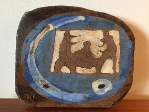 Herbert Siebner, a member of the Limners, a prominent group of Victoria-based artists, was born in 1925 to a cultured family in the city of Stettin, Germany sgraffito plaque - $600-