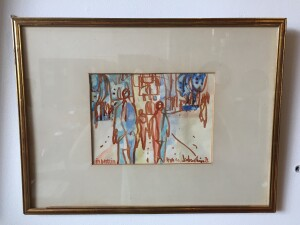 Herbert Siebner, a member of the Limners, a prominent group of Victoria-based artists, was born in 1925 to a cultured family in the city of Stettin, Germany -- watercolor - '77 - $500