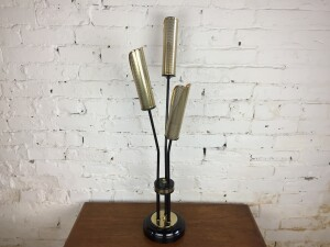 """Spectacular 1950's metal table lamp in the style of bulrushes also known as cat tails :) - very well made - stands 32""""H - $400"""