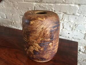 "Outstanding and super unusual Vintage ceramic vase by Canadian Potter/ Artist /teacher Walter Dexter - stands - 11.5""H - $450"