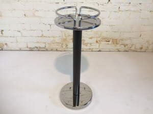 Unique and original vintage 1979 stainless steel Alessi 5059 wine cooler stand, a great example of a professional kitchen accessory, a smart choice to create in your interior that typical, tough, industrial kitchen look.or we were thinking it would make a really cool plant stand :) -