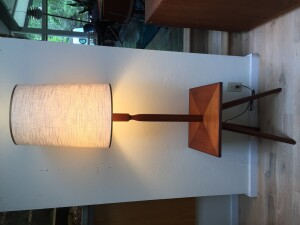 Fabulous Vintage teak floor lamp with built in table - perfect combo - 2 furniture pieces for the price of one - perfect for smaller compact spaces - newly re-finished and ready for it's new home -(SOLD)