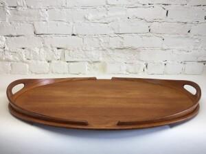 Exquisite MId-century Modern large teak serving tray designed by Jens Quistgaard for Dansk - incredible craftsmanship - newly refinished - (SOLD)