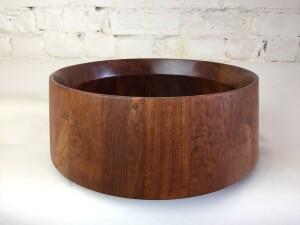 Exquisite Mid-century Modern large teak serving bowl designed by Jens Quistgaard for Dansk - incredible craftsmanship - - (SOLD)