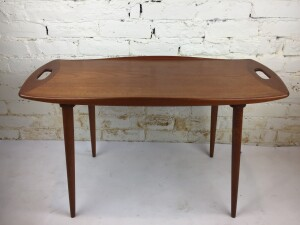"Fabulous Mid-century Modern teak side /end table designed by Jens Quistgaard - Made in Denmark - fabulous craftsmanship and design - 31.5""L x 19""H - $400"