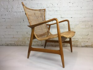 Sculptural danish chair designed by Kofod Larsen circa 1960. (SOLD)