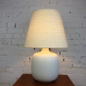 Gorgeous vintage Lotte Bostlund lamp with original shade - (SOLD)