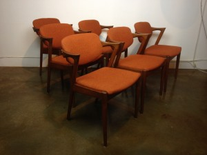 Set of 6 Kai Kristiansen dining,made in Denmark,comfortable and cool (SOLD)