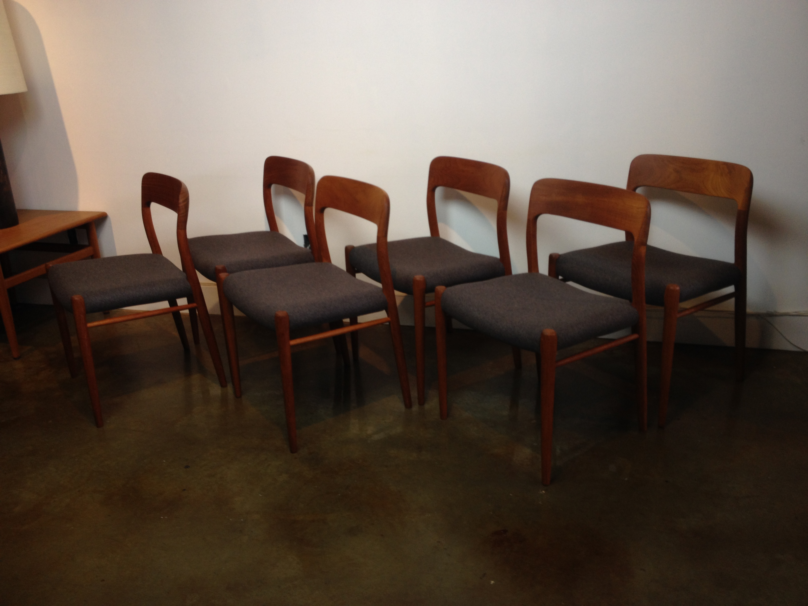 Stunning Set Of 6 Teak Dining Chairs Designed By Niels Moller For JL