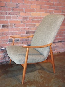1960's Norwegian teak lounge chair with new upholstery (SOLD)