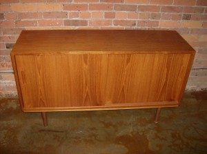 "Spectacular Mid-century teak credenza by Poul Hundevad - Denmark - gorgeous birch interior w/ one small drawer - on the top left side - outstanding craftsmanship - just lovely - condition is excellent - 54.5""L x 17""D x 30.5""H - (SOLD)"