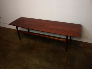 "Incredible Mid-century modern SOLID teak coffee table - lovely dark dark patina - perfect for your Mid-century home & or office - this beauty measures - 60""L x 19.75""D x 17""H -(SOLD)"