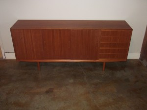 "Handsome Mid-century teak sideboard - fantastic design with loads of storage - lovely original patina - great vintage condition - measures - 79""L x 17.75""D x 33""H - $1400"