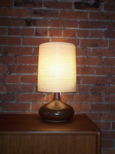 Magnificent Mid-century ceramic lamp by Lotte & Gunnar Bostlund - comes with it's original fiberglass shade - (SOLD)