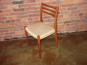 Handsome Mid-century modern teak & cane dining chair by Svegaards - Sweden - very good vintage condition - (SOLD)