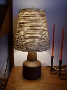 Mid-century modern ceramic lamp designed by husband and wife team Lotte & Gunnar Bostlund - (SOLD)