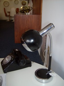 Cool Space-age black and chrome desk lamp - (SOLD)