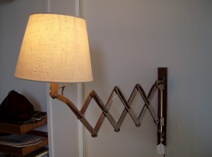 Fantastic Mid-century modern retractable wall light - (SOLD)