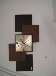 Fabulous Mid-century modern wall clock by Caravelle - (SOLD)