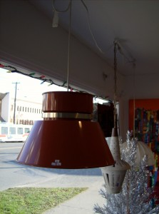 Fabulous burnt orange 1960's Swedish pendant light by Carl Thore - NICE!! - (SOLD)