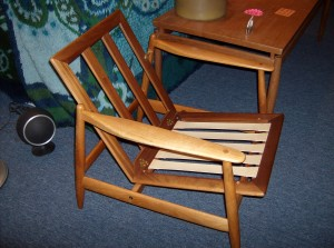 Stunning Mid-century modern teak lounge chair manufactured by Frem Rojle - Denmark - (SOLD)