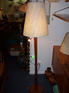 Classic Mid-century modern teak floor lamp - (SOLD)