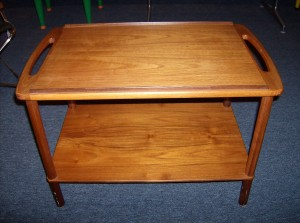 Stunning Mid-century modern 2 tier Danish teak end table - (SOLD)