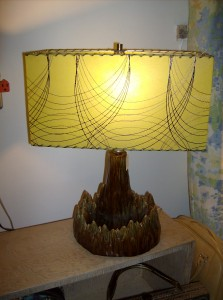 Fabulously fun Retro 1950's  TV lamp - (SOLD)