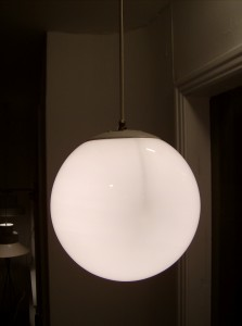 Fabulous 1960's globe pendant light - (SOLD)