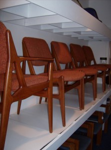 An absolutely stunning set of Danish teak dining chairs 2 arm and 4 side chairs by iconic Architect/Designer Arne Vodder  -get ready for this -they are only - (SOLD)