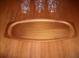 Beautiful Mid-century modern Danish teak tray - (SOLD)