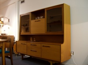 Absolutely stunning Mid-century modern teak one piece buffet and hutch made in the UK - (SOLD)