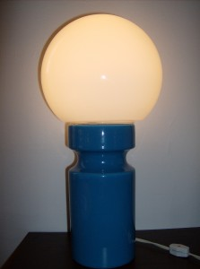 Beautiful Ocean blue ceramic lamp by Royal Haegar - USA - 2 available- (SOLD)