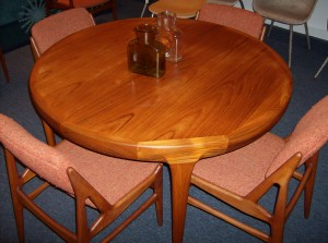 Absolutely stunning Mid-century modern teak dining table by designer IB Kofod Larsen for Faarup - Denmark - Only -(SOLD)