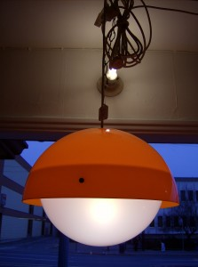 Super Groovy - OP TO POP -  vintage hanging light!! - (SOLD)