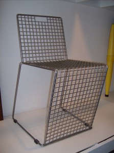 Fantastic vintage wire chair - great for indoor and/or outdoor use - 2 available - (SOLD)