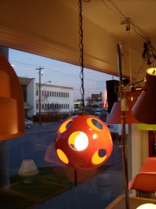 Super cool Mid-century modern red ceramic pendant light - (SOLD)