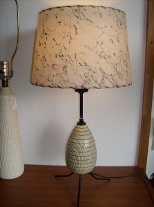 Check out this amazing Atomic 3 legged table lamp - a definate must have for the Atomic era lover - (SOLD)