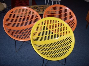 Super Groovy Original 1970's Solair lawn chairs made in Quebec Canada - only one left - the yellow one - (SOLD)