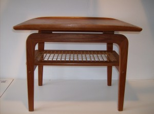 "table - nice curved lip on the top edges - super nice condition - measures 25.5""Long X 18.5"" Width X 21""Height - (SOLD)"